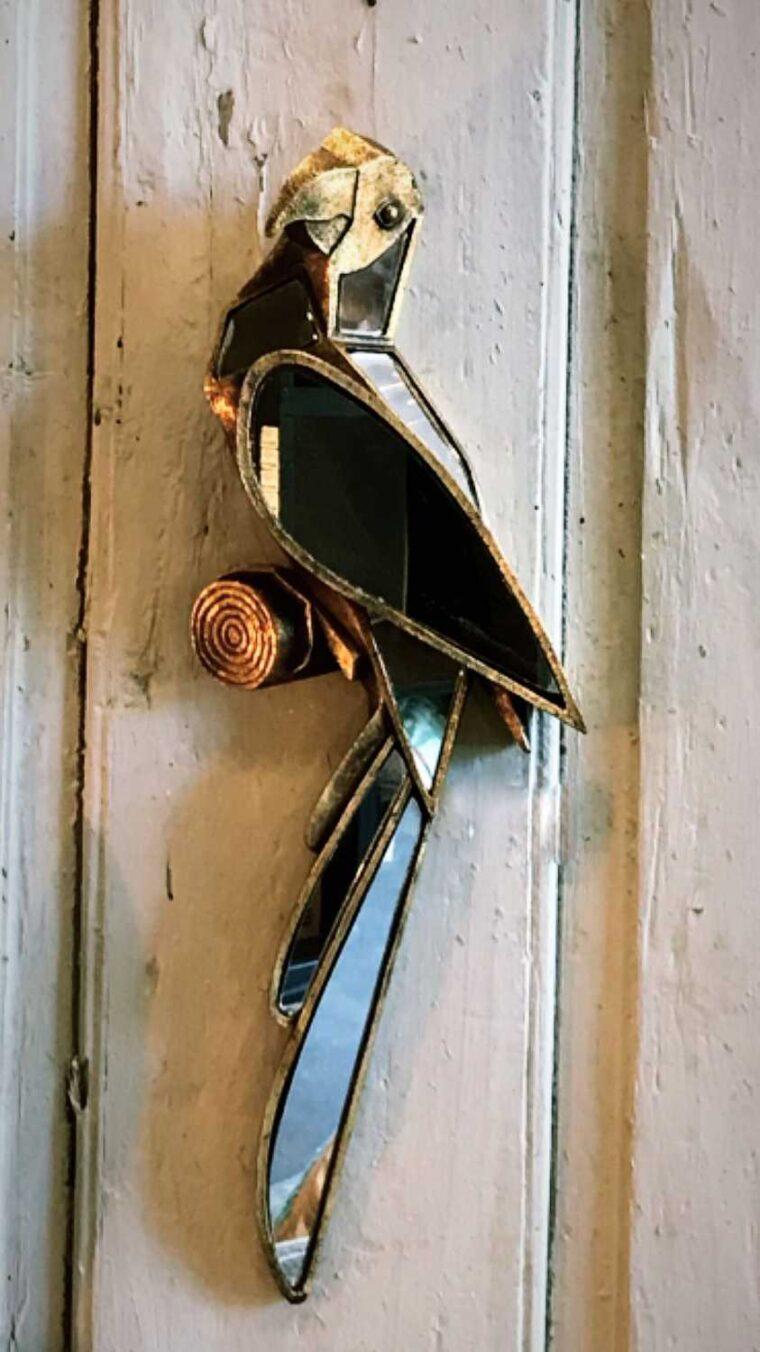 déco murale perroquet miroir