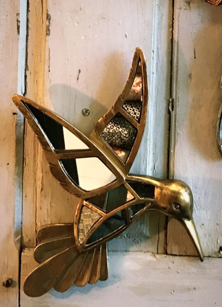 deco murale colibri miroir