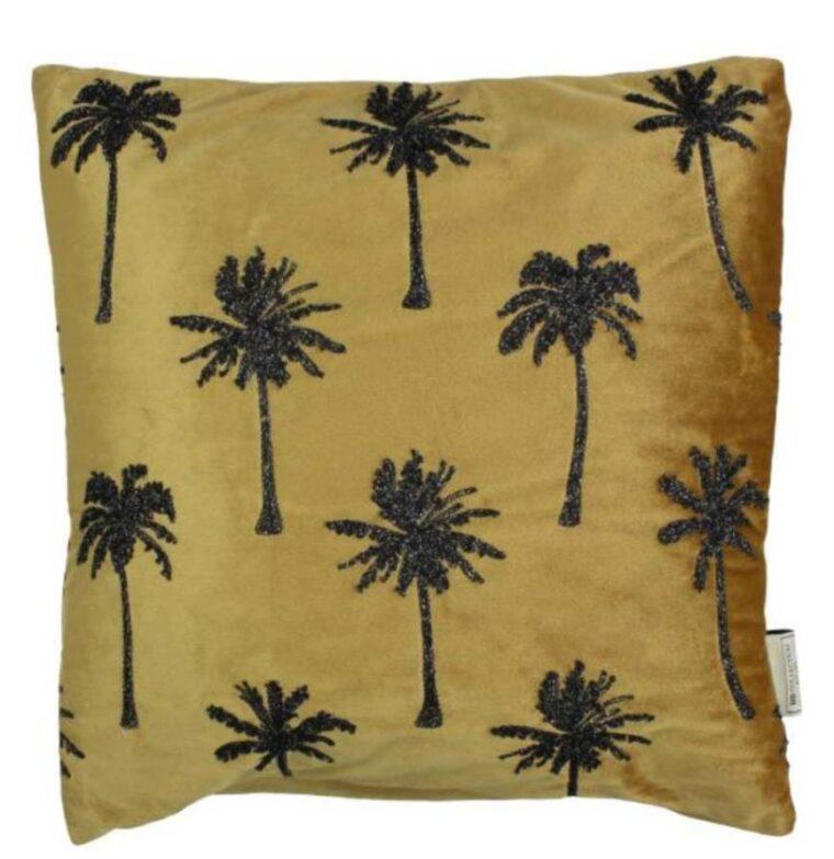 coussin velours palmier