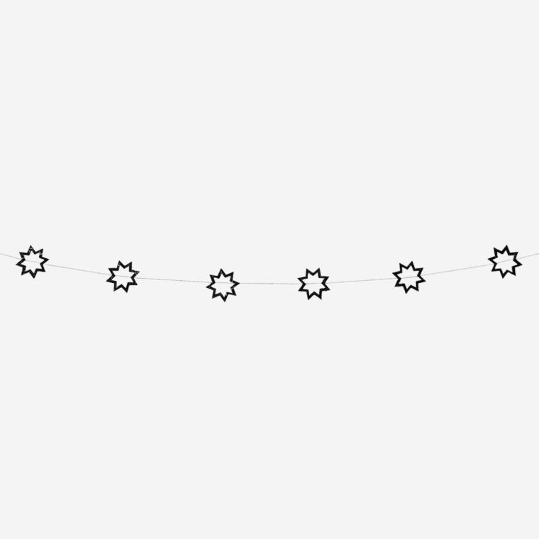 Guirlande étoiles noirs