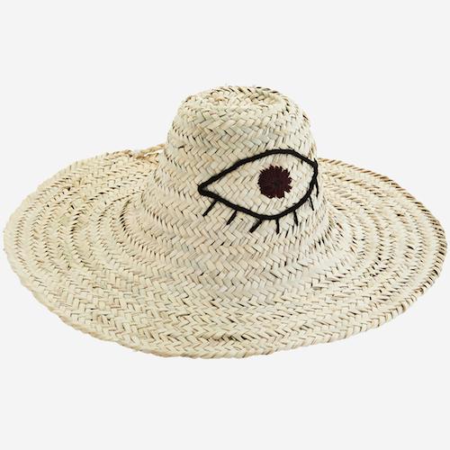 Chapeau de paille motif oeil