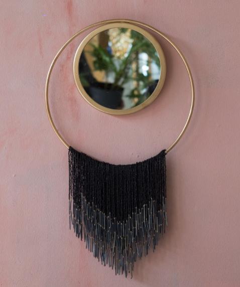 Miroir perle noir
