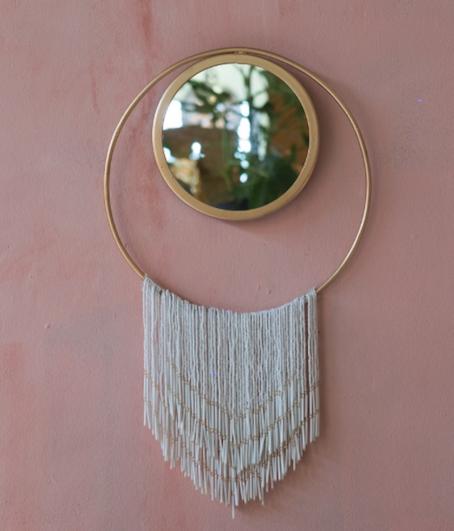 Miroir perle blanc