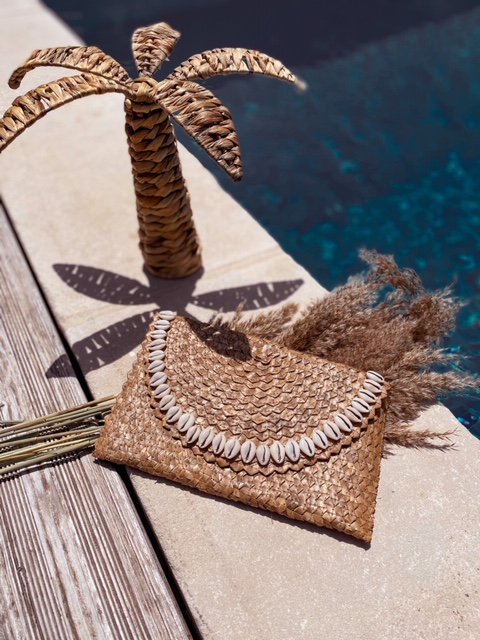 Pochette feuille de palmier