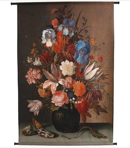 Tenture fleurs