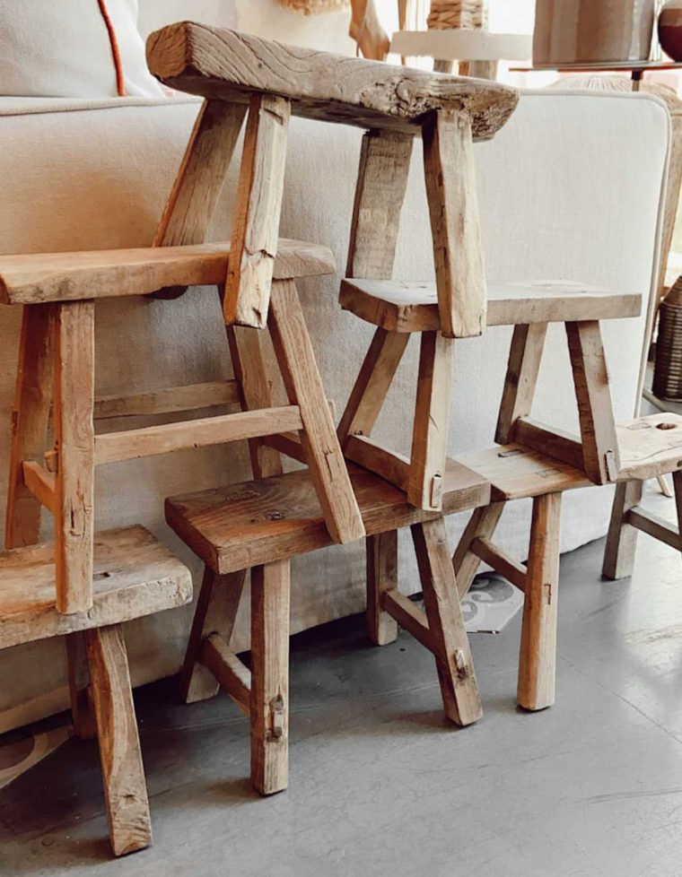 Baby stool ancien vacher