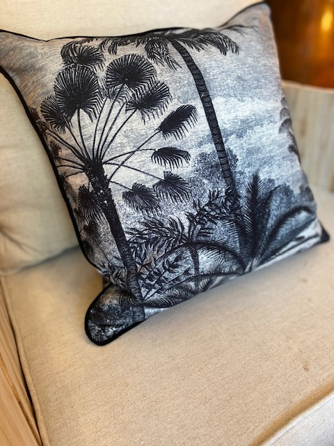 Coussin palmiers