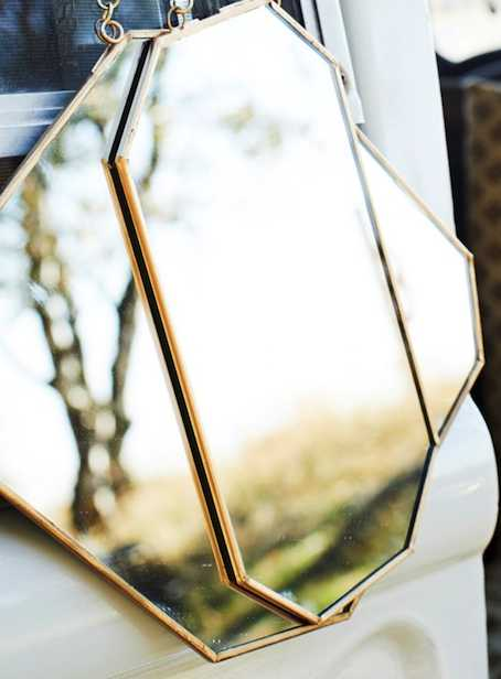 Miroir laiton forme allongée