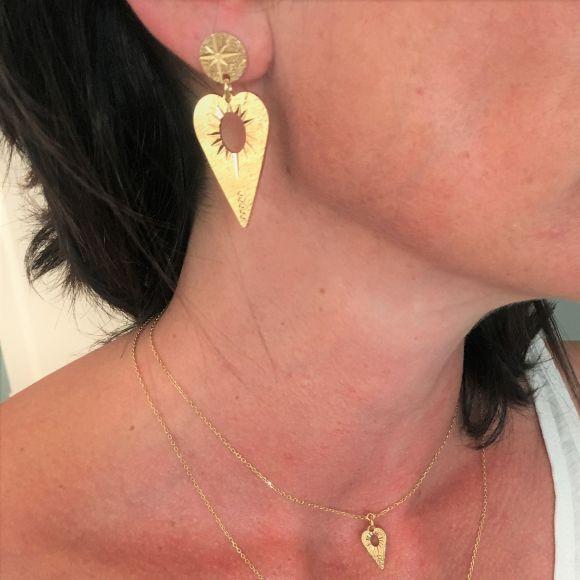 Boucles d'oreilles coeur ajouré