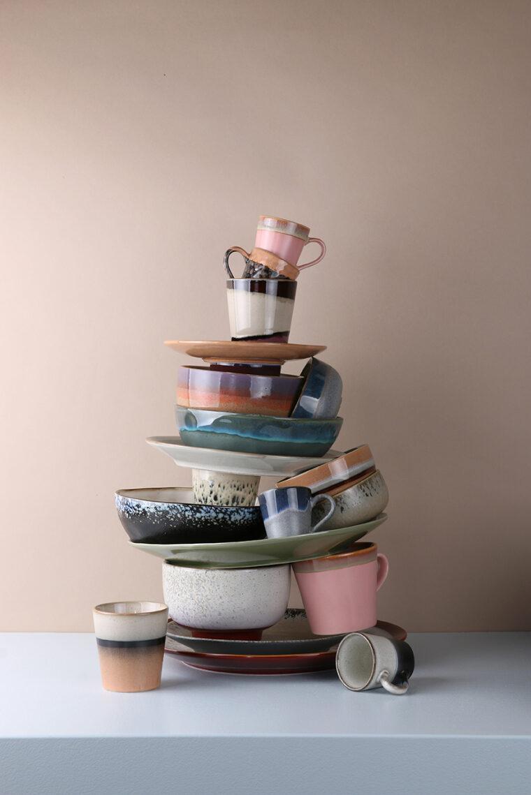 ceramic 70's pasta bowl: galaxy ACE6766