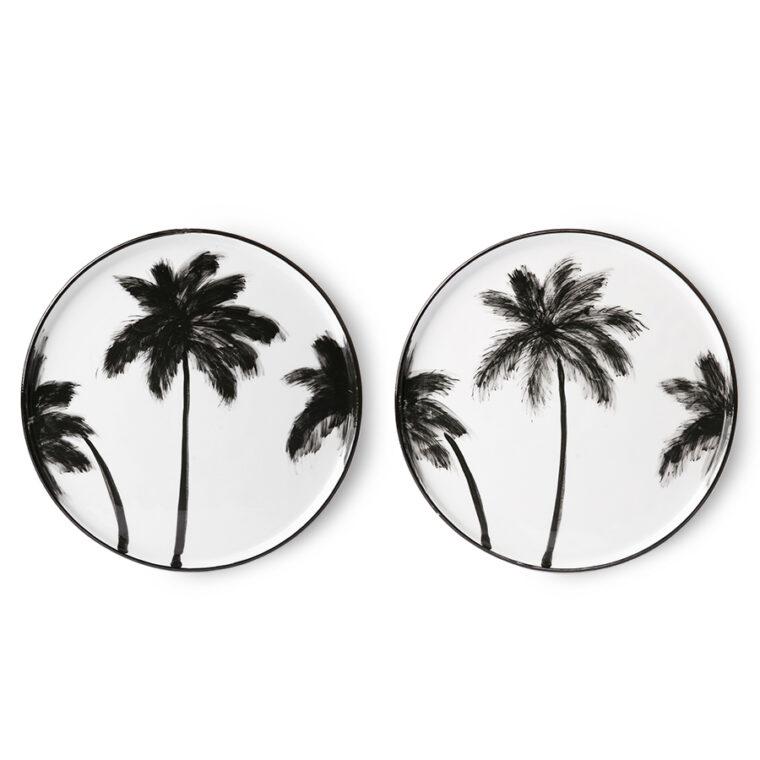 assiette palmier