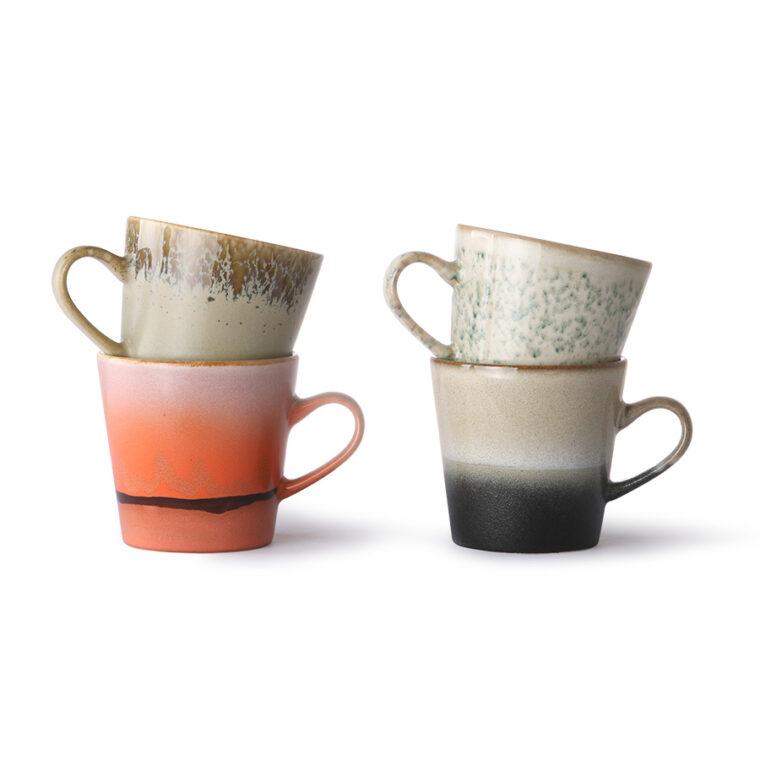 ceramic 70's americano mugs