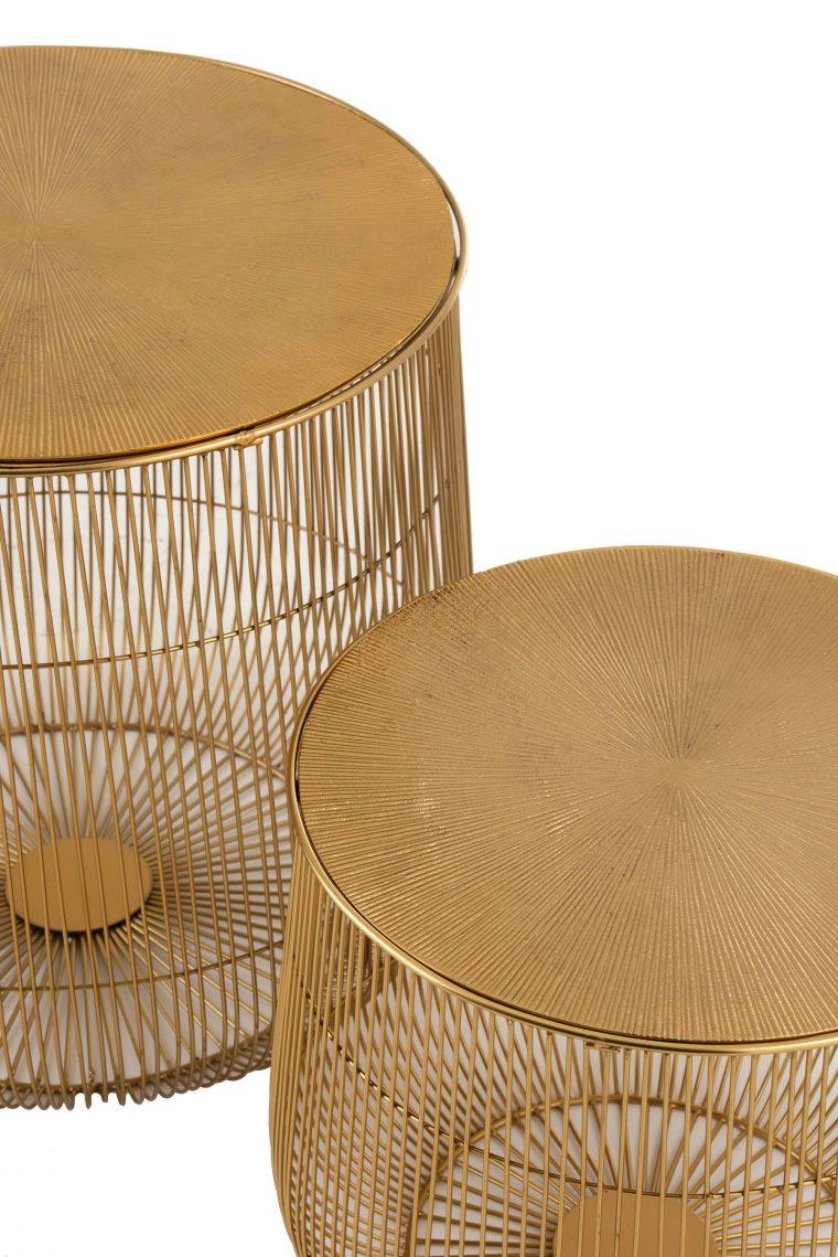 table gigogne dorée