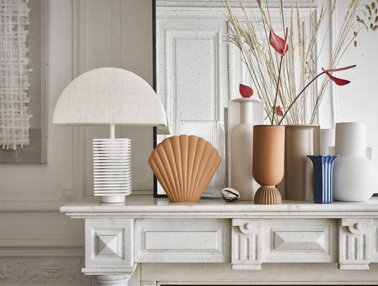 Vase coquillage terracota et orange