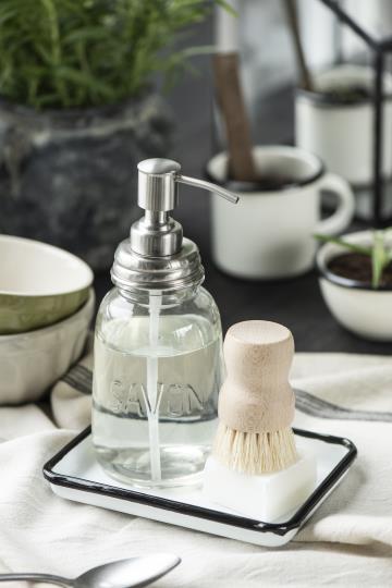 Distributeur de savon en verre transparent