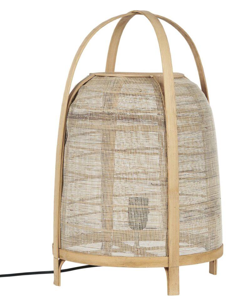lampe bambou et lin