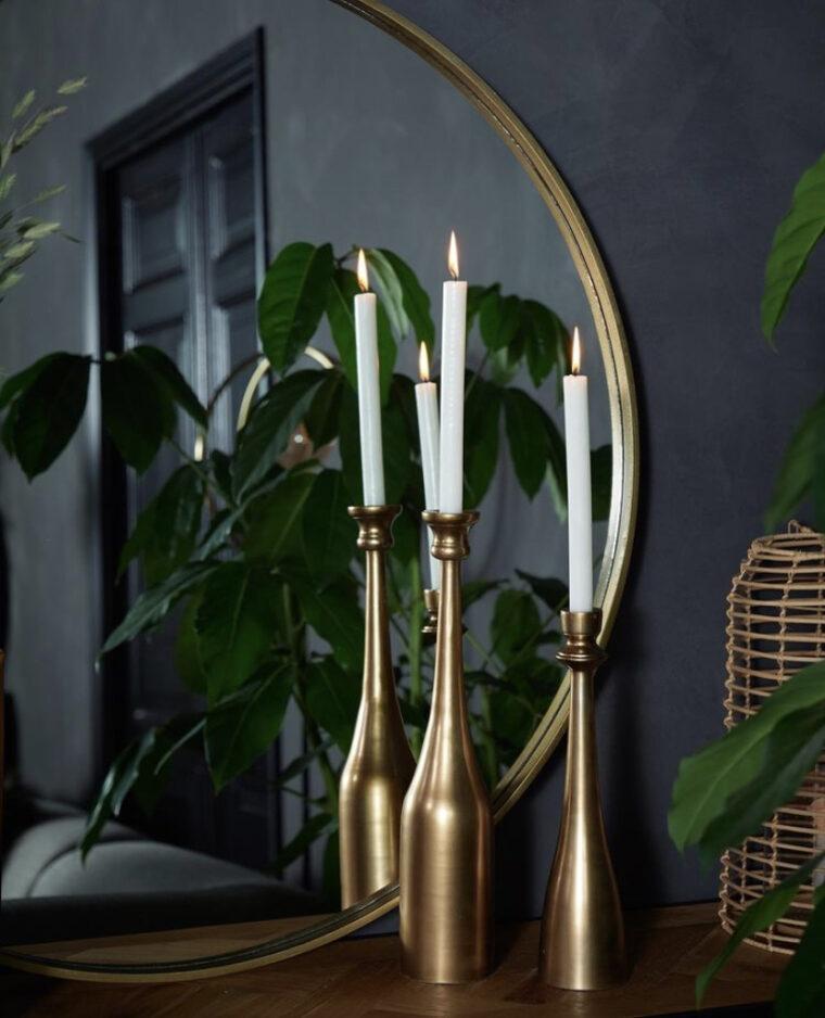 miroir rond gold