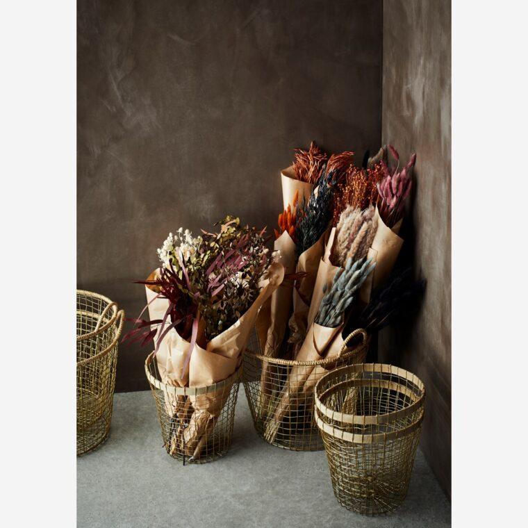 Bouquets de fleurs séchées
