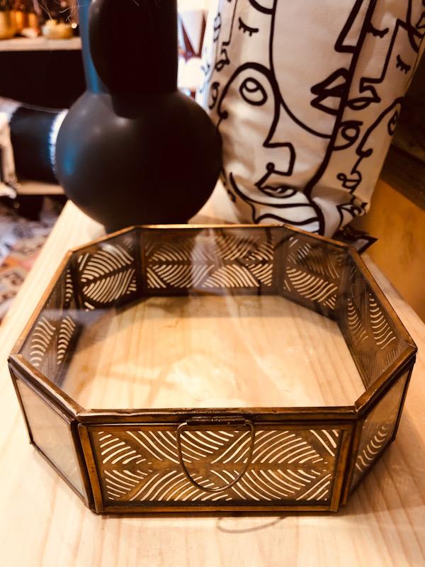 Boite à bijoux forme hexagonale S et M