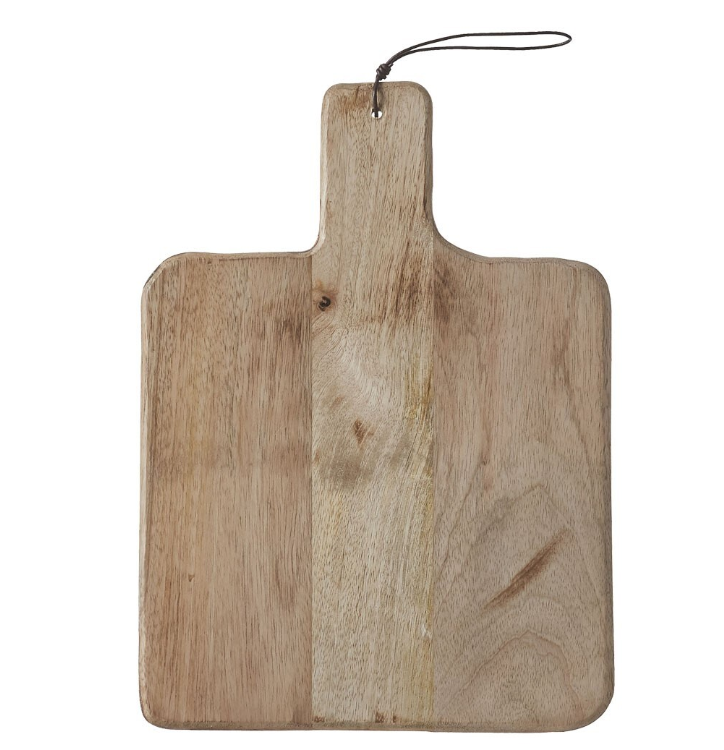 Planche à découper S en bois de manguier 35 x 25 cm