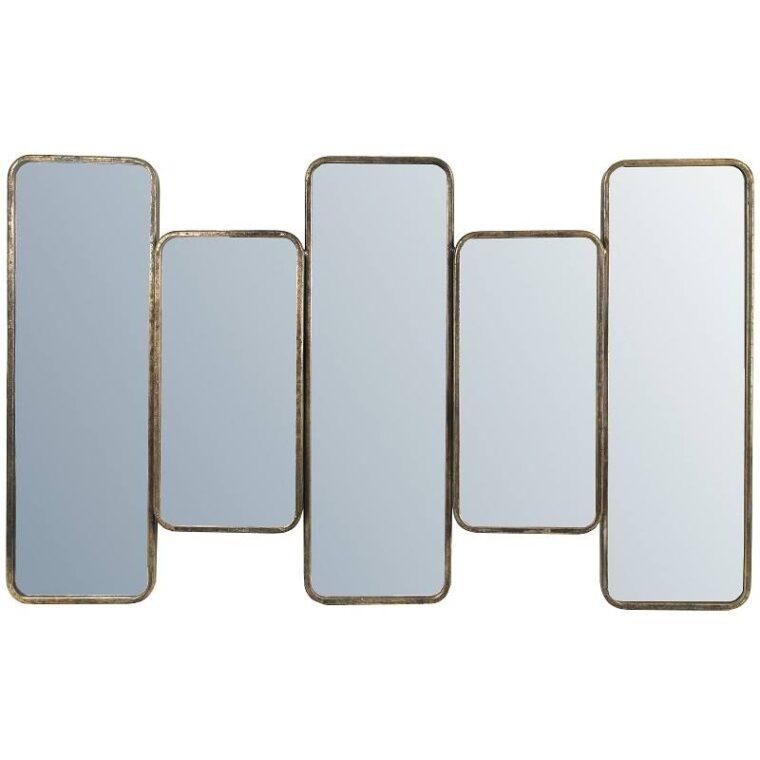 miroir effet laiton