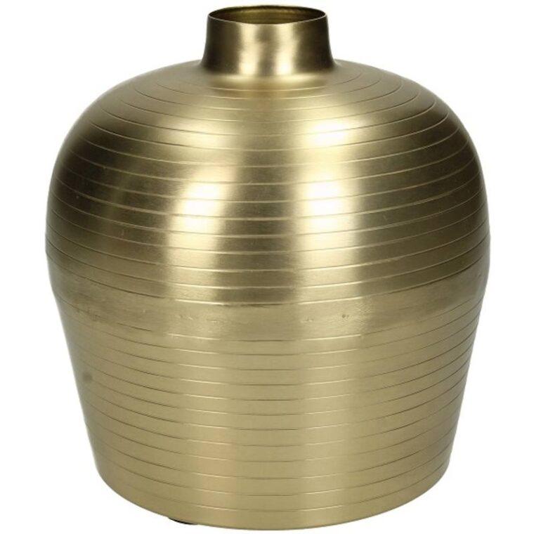 Vase gold en métal