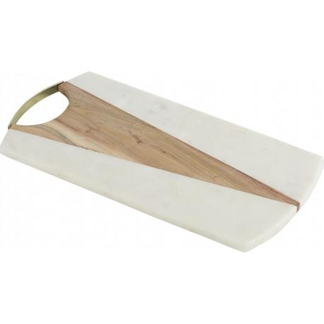 Planche Poignée Bois/Marbre 45.7x23.5cm