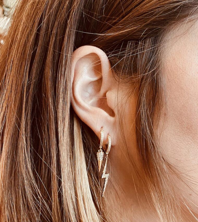 boucle d'oreille amulette
