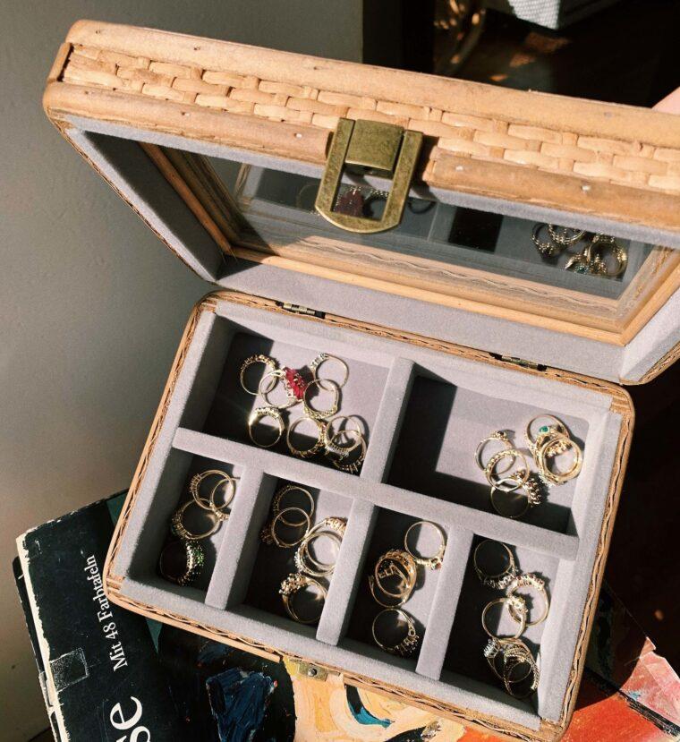 boite à bijoux rotin