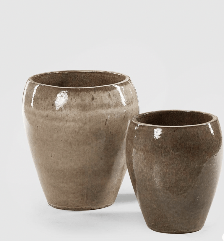Vase en céramique couleur sable S et M