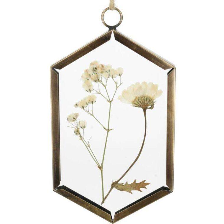 cadre a suspendre fleurs séchées